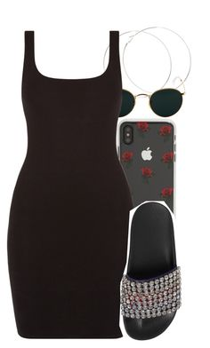 """""""Untitled #5852"""" by rihvnnas ❤ liked on Polyvore featuring Ray-Ban, Sonix and Gucci"""