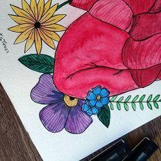 Bom dia! Começando o dia com muita cor! 🌻🌺 Ah, essa aquarela vai estar no sorteio lá na página no face, fique de olho! 🌿 ⚫ ⚫ ⚫ #watercolour #watercolor #aquarelle #aquarela #ilustración #ilustração #illustration #draw #sketch #paint #desenho #dibujo #desenhando #cactus #flores #flower #coracao #heart #suculentas #nature #love #amor #aquarelinhas #lettering #caligrafia #caligraphy #tipography #tipografia #handmade