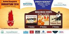 Get ready for the fun of a lifetime this October @ DURGOTSAV 2014! Celebrate this Dussehra with pomp and gusto and be a part of the mega music events – AURK's ROCKing concert, Dandiya and Zubeen Garg's live concert. Brought to you by BookMyBus, the official travel partner.  DURGOTSAV – A Celebration of life, culture and traditions!