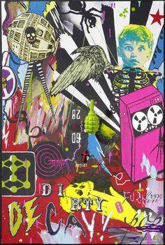 Dan Baldwin Art Dirty Fuckin Pop Decay (The Prodigy) Dan Baldwin, Champagne Bar, Natural Forms, Figure Painting, Urban Art, Contemporary Artists, Decay, Printmaking, Art Art