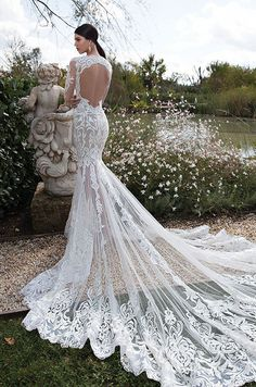 Now that's a train! Check out the fabulous Berta 2015 wedding dress collection.