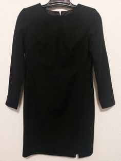 J. G. Hook -Women's Dress - Size 4P - Black Lined Wool Sheath  Career Dress with Long Sleeve -#JGHook #SheathFullyLinedFrontSideSlit5 #Career ..... Visit all of our online locations.....  www.stores.eBay.com/variety-on-a-budget .....  www.amazon.com/shops/Variety-on-a-Budget .....  www.etsy.com/shop/VarietyonaBudget .....  www.bonanza.com/booths/VarietyonaBudget .....  www.facebook.com/VarietyonaBudgetOnlineShopping