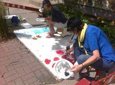 Espace partagé | www.saint-eustache.ca Art public - peinture sur trottoir