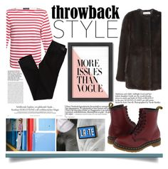 """""""Throwback Style: Dr. Martens"""" by fernandamaverick ❤ liked on Polyvore featuring Saint James, Marni, Americanflat, American Eagle Outfitters, Dr. Martens, StreetStyle, DrMartens, vogue and polyvorecontest"""
