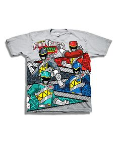 Look at this Gray Power Rangers Dino Charge Tee - Boys on #zulily today!