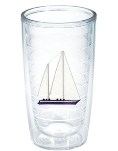 Blue Sailboat Tumbler