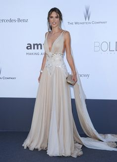 Magazines - The Charmer Pages : Alessandra Ambrosio – 2013 amFAR in Cannes