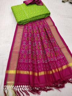 Latest Ikkath Sico Dress Materials With Duppata Dress Neck Designs, Blouse Designs, Kurta Designs Women, Salwar Designs, Lehenga Designs, Kamiz Design, Dress Indian Style, Indian Dresses, Indian Wear