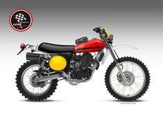 Ancillotti Scarab Spirit 450 by Oberdan Bezzi Ducati Pantah, Ducati Supersport, Ducati Scrambler, Enduro Vintage, Vintage Motocross, Vintage Bikes, Motorcycle Design, Bike Design, Motorcycle Bike