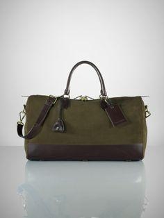 33d0840982 Suede   Leather Duffle Bag - Ralph Lauren Bags   Business - RalphLauren.com