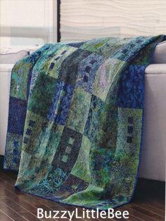 Quilt Pattern~Zen~Organic Motifs of Batik Fabrics Used~Calming~River~