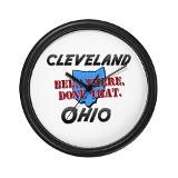 cleveland ohio - been there done that Wall Clock ew97