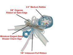 Baby Shower Favor #046. For more details, including color options and pricing, please visit our website www.lacrafts.com (Recuerdo para Baby Shower #046. Para más detalles, incluyendo opciones de color y los precios, por favor visite nuestro sitio web www.lacrafts.com)