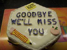 teacher leaving cake