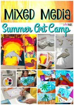Mixed Media Summer Art Camp Projects #mixedmediaprojects #artcamp #ericcarleprojects #summercampart #createartwithme