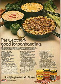 Cheez Whiz ad - recipes for Chicken A La Whiz, Cheez Whiz Dumpling Soup and Rio Grande Supper