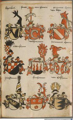 Wappen besonders von deutschen Geschlechtern Süddeutschland ?, 1475 - 1560 Cod.icon. 309  Folio 52r