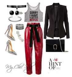 """""""A Hint of...."""" by mychicstyle1 on Polyvore featuring Philosophy di Lorenzo Serafini, Alexandre Vauthier, Fallon, Belk & Co., Maison Margiela, Christian Louboutin, Gucci, Bernard Delettrez and Topshop"""