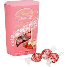 Lindor Strawberries & Cream Truffles 200g