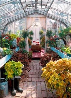 I love how this connects to the house- can garden night or day!.