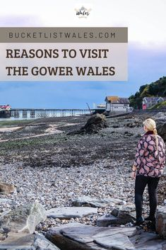 Visiting The Gower, Wales. There are are many reasons to visit the Gower. There are beautiful sandy beaches, coastal walks, piers, castles and more in this gorgeous part of Wales. It's a perfect seaside staycation spot in the UK.    #Gower #wales #adventure #UKTravel Places In Europe, Best Places To Travel, Beautiful Places To Visit, Cool Places To Visit, Best Of Wales, Swansea Bay, Travel Tips, Travel Ideas, Sunset Photography