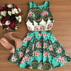 Aliexpress.com: Compre 2015 moda venda quente impressão vestido curto casual…
