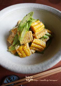 Asparagus & Corn in Miso Tabasco sauce  アスパラコーンのタバスコ味噌マリネ