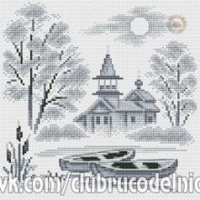 Gallery.ru / Все альбомы пользователя denise10 Cross Stitch Flowers, Cross Stitch Patterns, Cross Stitch Landscape, Snow, Painting, Outdoor, Cross Stitch, Xmas, Scenery