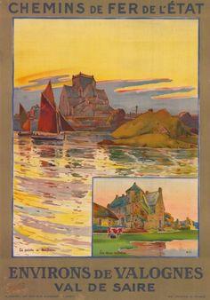 chemins de fer de l'état - Environs de Valognes - Val de Saire - 1927 - France -
