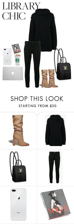 """""""Style study"""" by cindy-gabrielle ❤ liked on Polyvore featuring Gianvito Rossi, Acne Studios, Louis Vuitton and Abrams"""