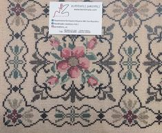 Tapete Floral, Cross Stitch Patterns, Elsa, Embroidery Designs, Diy And Crafts, Stamp, Toque, Rugs, Ukraine