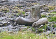 The Giant's Boot at the Giant's Causeway http://unescogeek.com/irelands-giants-causeway/