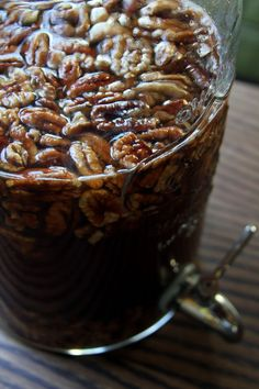 """Autumn's Up"" recipe - How to make Pecan infused whiskey. Sounds delicious for November!"