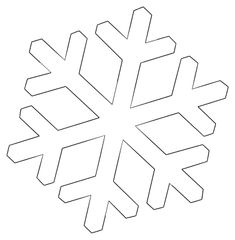 FREE Printable Snowflake Templates, Patterns, and Stencils. Use these Snow Flake designs for Christmas ornaments, decorations, coloring pages . Snowflake Outline, Paper Snowflake Template, Snowflake Stencil, Simple Snowflake, Paper Snowflakes, Snowflake Pattern, Snowflakes Template Printable, Free Stencils, Stencil Templates