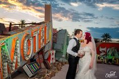 The Neon Museum Elopement Wedding (Amy & Adam) - Las Vegas Event and Wedding Photographer, Neon Museum Wedding Photos, Vegas wedding, Las Vegas Wedding Photographer Las Vegas Wedding Photographers, Las Vegas Weddings, Elope Wedding, Elopement Wedding, What Is Wedding, Neon Museum, Creative Wedding Photography, Museum Wedding, Las Vegas Strip