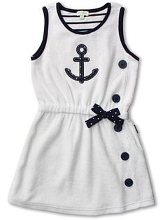 le top Anchors Aweigh Terry Cover-Up Dress (Infant/Toddler/Little Kids)