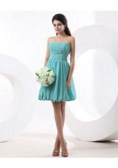 A-line Strapless Chiffon Bridesmaid Dress, @Jenifer Heyman