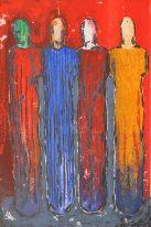 Kjøp kunst og grafikk fra Nico Widerberg i Nettgalleriet Scandinavian Art, Encaustic Painting, Painting Inspiration, Collage Art, Printmaking, Vibrant Colors, Cool Art, Contemporary Art, Abstract Art