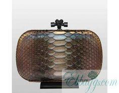 Bottega Veneta Knot Clutch genuine Python leather 52093941298fe