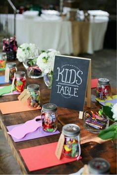 Isn't this so cute? What a wonderful way to make sure that everyone, even the little ones, enjoy themselves on your big day! Find the perfect jar for your Wedding in the Glassware section. #annemarieweddingfavors #favorista #weddingfavors #glassware #bride #wedding #diy #favors
