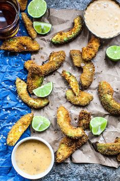 Avocado Fries with Queso Cheese Dip