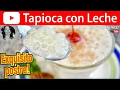 CÓMO HACER TAPIOCA CON LECHE | Vicky Receta Facil - YouTube