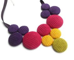 Bubble Bib - Cotton Knitted Necklace