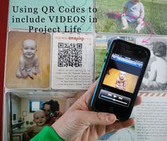 How to use QR codes to include Videos in Project Life.  Step by Step with Videos!  Arena Five: Project Life - Including Videos!