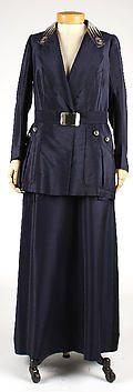Uniform  Date: ca. 1914  Medium: synthetic, straw, linen