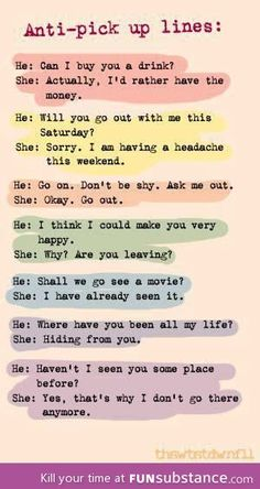Comebacks for pick up lines