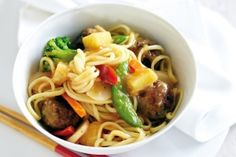 Sweet and sour meatball stir-fry
