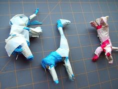 How to make a papier mache model. Easy Paper Mache Circus Animals - Step 4