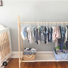 Clothing Rack Dress Up Storage Childrens Decor Kids Clothing Wooden Rack With Storage Shelf 48 Inches x 38 inches long Clothes Storage Without A Closet, Kids Clothes Storage, Dress Up Storage, Kids Clothing Rack, Kids Shoe Storage, Clothing Storage, Storage Shelves, Rack Shelf, Storage Ideas