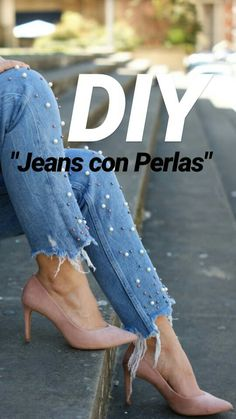 women jeans distressed -- CLICK Visit above for more options Diy Pullover, Alter Pullover, Pullover Upcycling, Diy Jeans, Denim Fashion, Womens Fashion, Fashion Trends, Jean Diy, Artisanats Denim